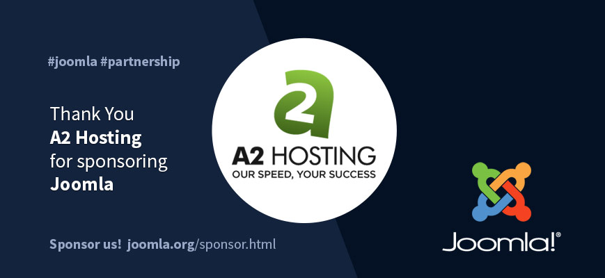 a2 hosting joomla sponsor